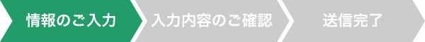 【情報のご入力】→入力内容のご確認→送信完了
